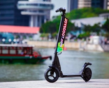 JoyScoot provides portable mobility equipment for rental or purchase in Singapore. You can choose from renting electric scooters, hoverboards or joyriders that resemble the bikes but have no pedals. Great location of the kiosk at the Singapore Flyer allows easy access to more than 8km of wide and comfortable shared walkways of Marina Bay, Singapore River and Gardens by The Bay.