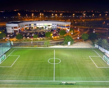 Riffa Views Soccer Field is one of Bahrain's state-of-the-art sports facilities which started with a mission of increasing the participation of people playing football and other sports regardless of their ability, age, gender or profession. They offer football pitches & an indoor sports dome and host five football pitches which have the advantage of FIFA certified turf fields that ensure a safe and enjoyable playtime.